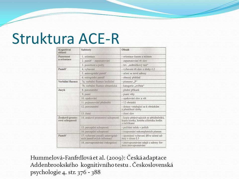 Struktura ACE-R Hummelová-Fanfrdlová et al.