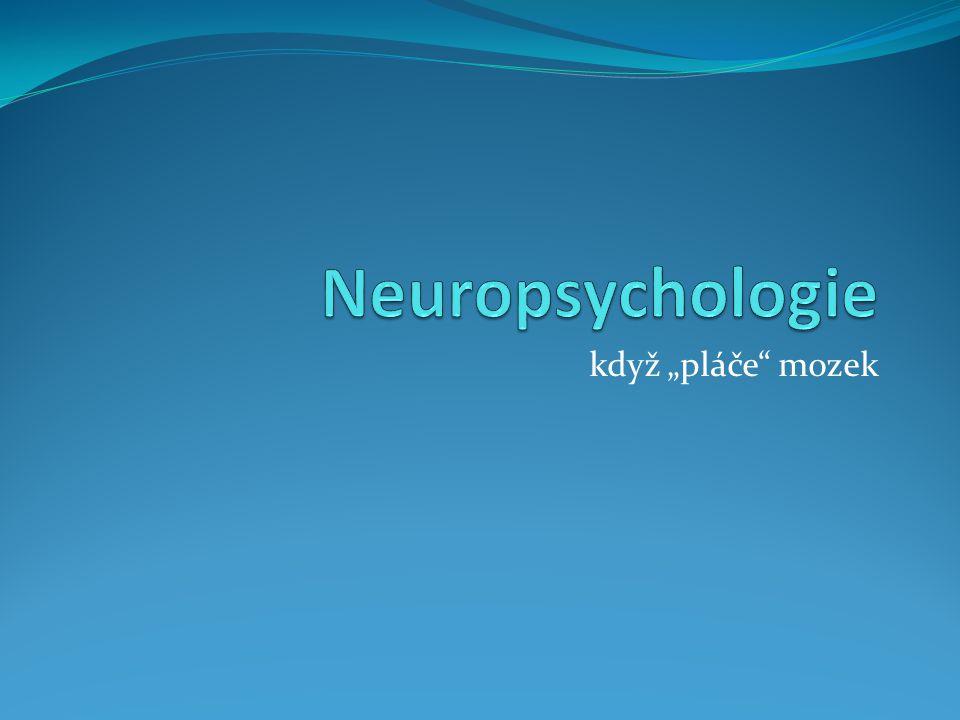 """Neuropsychologie když """"pláče mozek"""