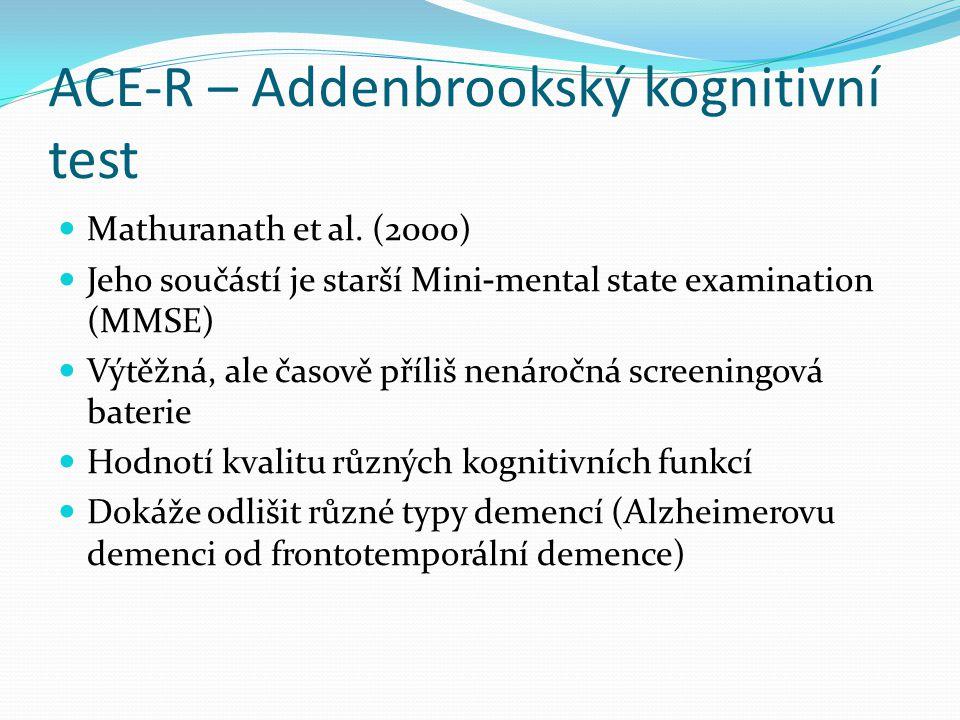 ACE-R – Addenbrookský kognitivní test