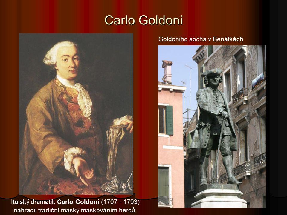 Carlo Goldoni Goldoniho socha v Benátkách