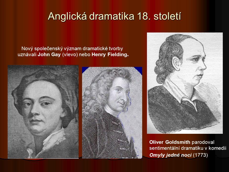 Anglická dramatika 18. století