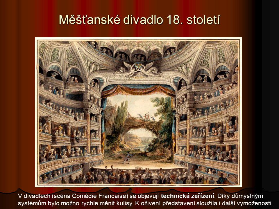 Měšťanské divadlo 18. století