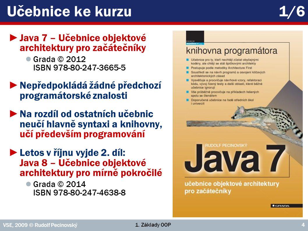 Učebnice ke kurzu 1/6 Java 7 – Učebnice objektové architektury pro začátečníky. Grada © 2012 ISBN 978-80-247-3665-5.