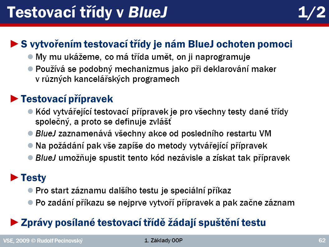 Testovací třídy v BlueJ 1/2