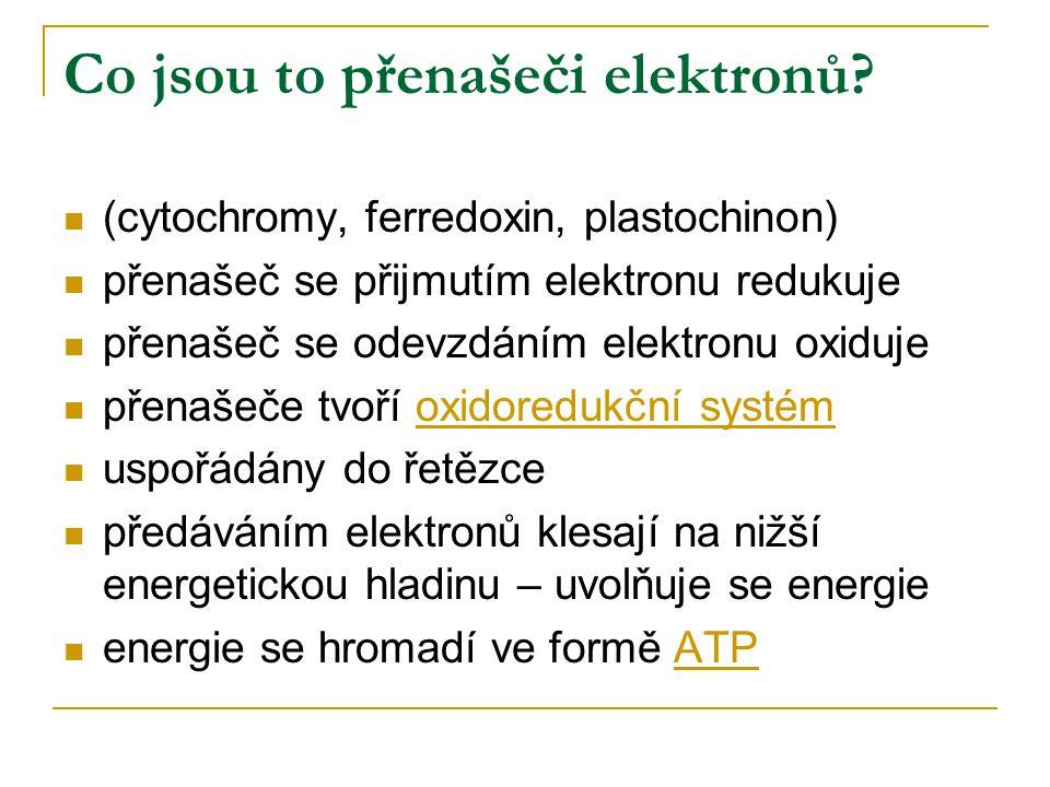 Co jsou to přenašeči elektronů