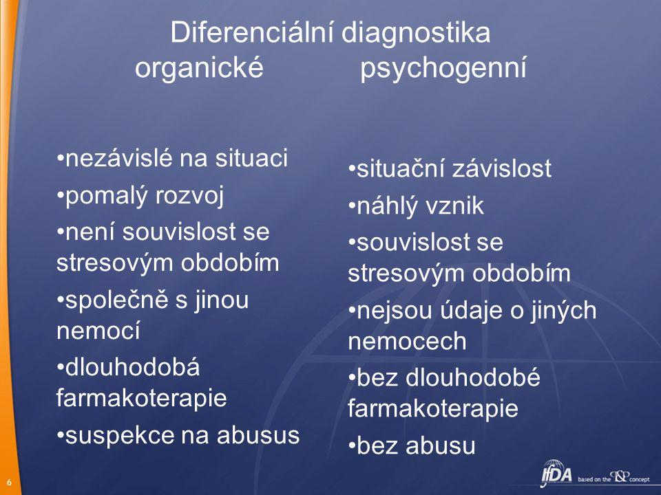 Diferenciální diagnostika organické psychogenní