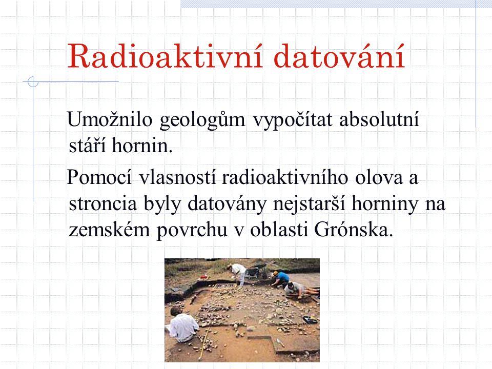 Radioaktivní datování