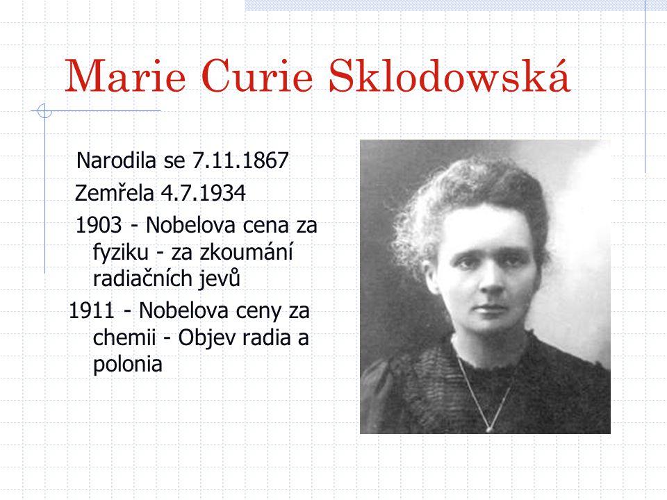 Marie Curie Sklodowská