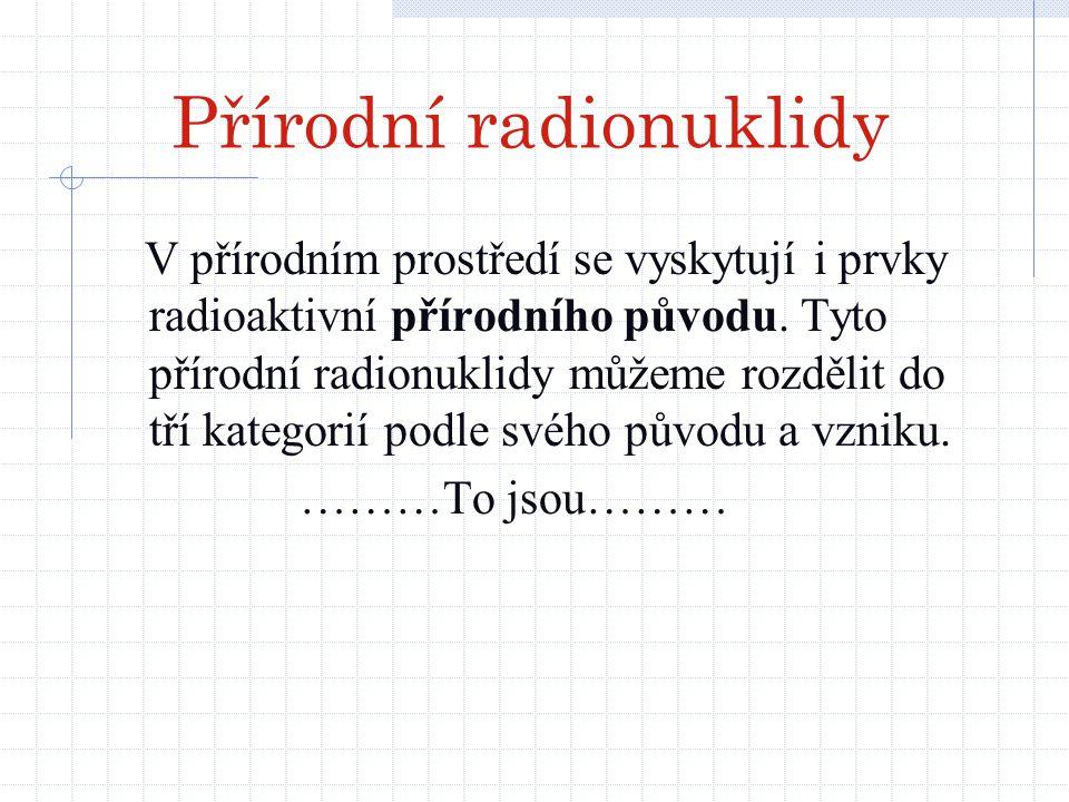 Přírodní radionuklidy