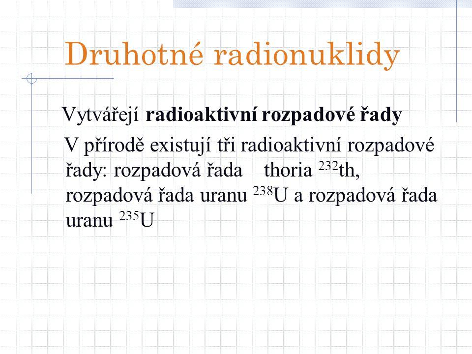 Druhotné radionuklidy