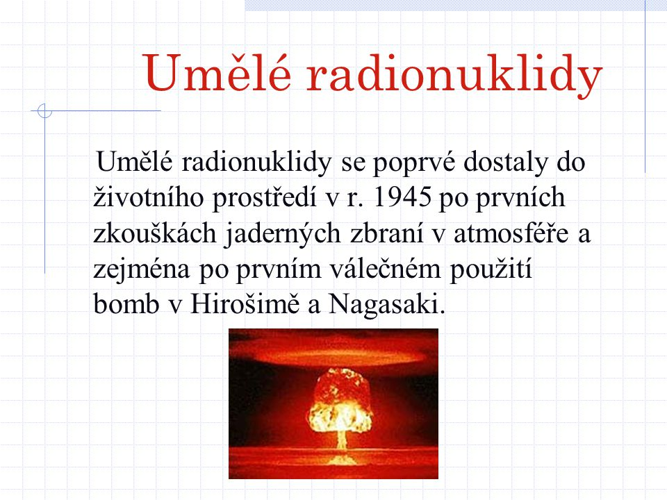 Umělé radionuklidy