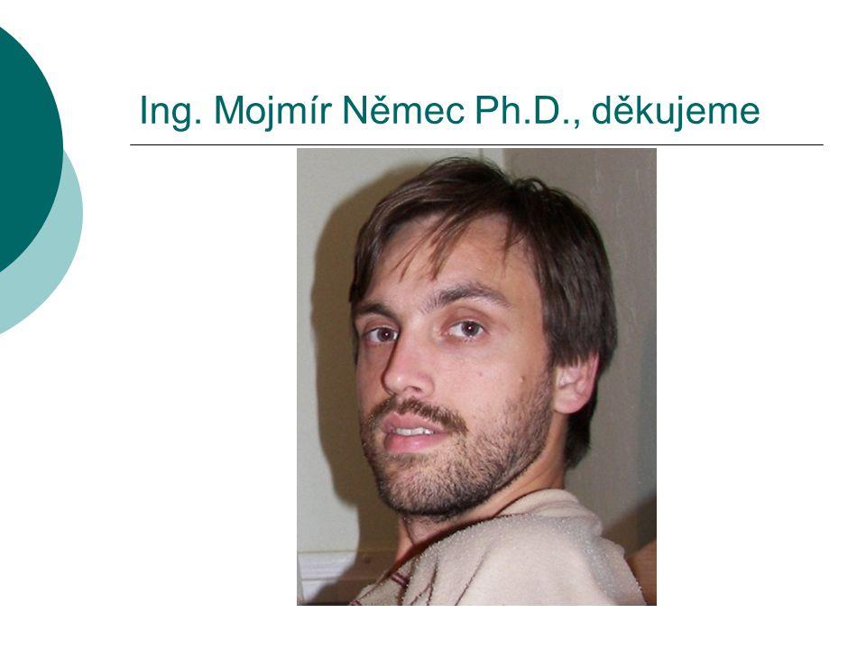 Ing. Mojmír Němec Ph.D., děkujeme