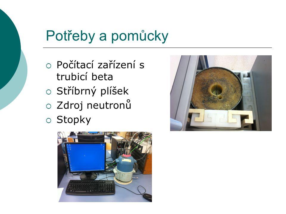 Potřeby a pomůcky Počítací zařízení s trubicí beta Stříbrný plíšek