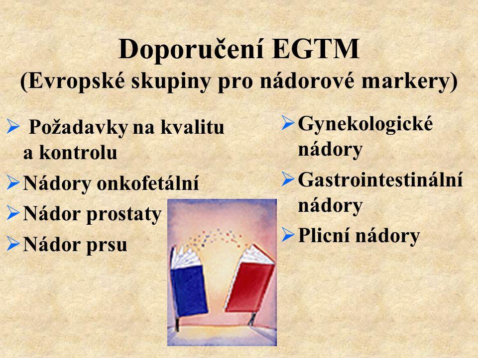 Doporučení EGTM (Evropské skupiny pro nádorové markery)