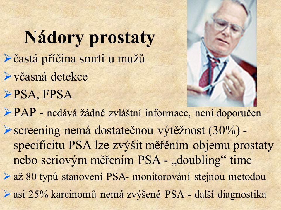 Nádory prostaty častá příčina smrti u mužů včasná detekce PSA, FPSA