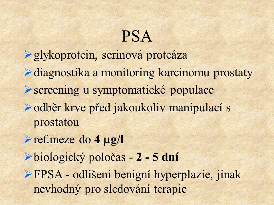 PSA glykoprotein, serinová proteáza