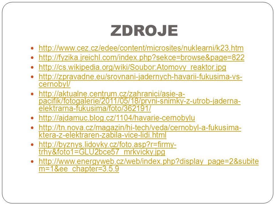 ZDROJE http://www.cez.cz/edee/content/microsites/nuklearni/k23.htm