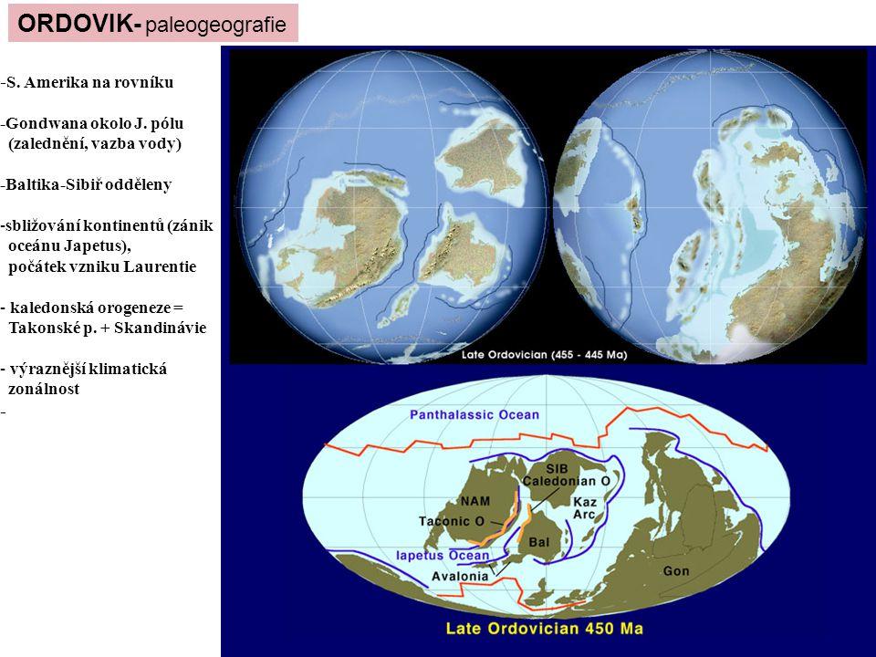 ORDOVIK- paleogeografie