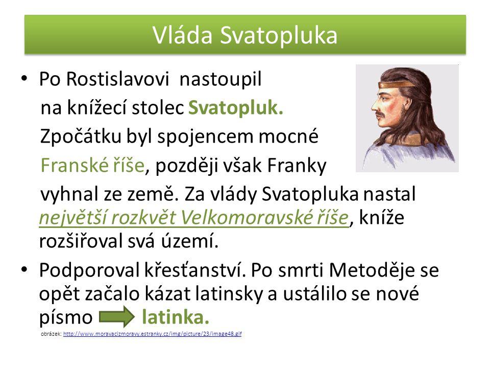 Vláda Svatopluka Po Rostislavovi nastoupil