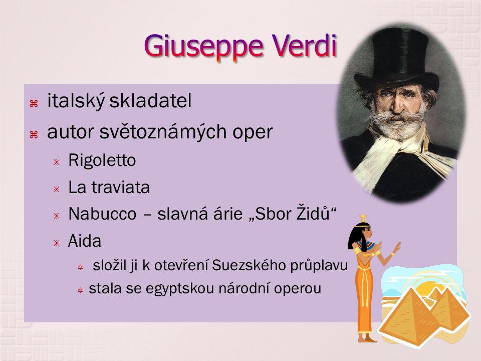 Giuseppe Verdi italský skladatel autor světoznámých oper Rigoletto