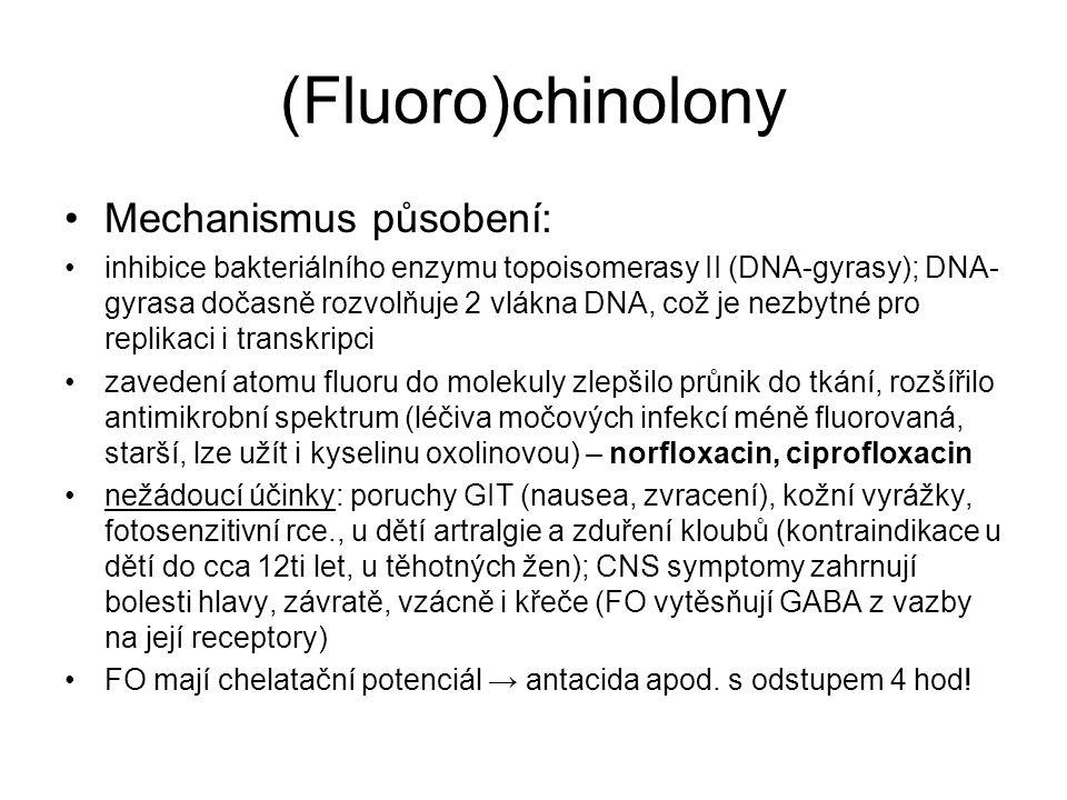 (Fluoro)chinolony Mechanismus působení: