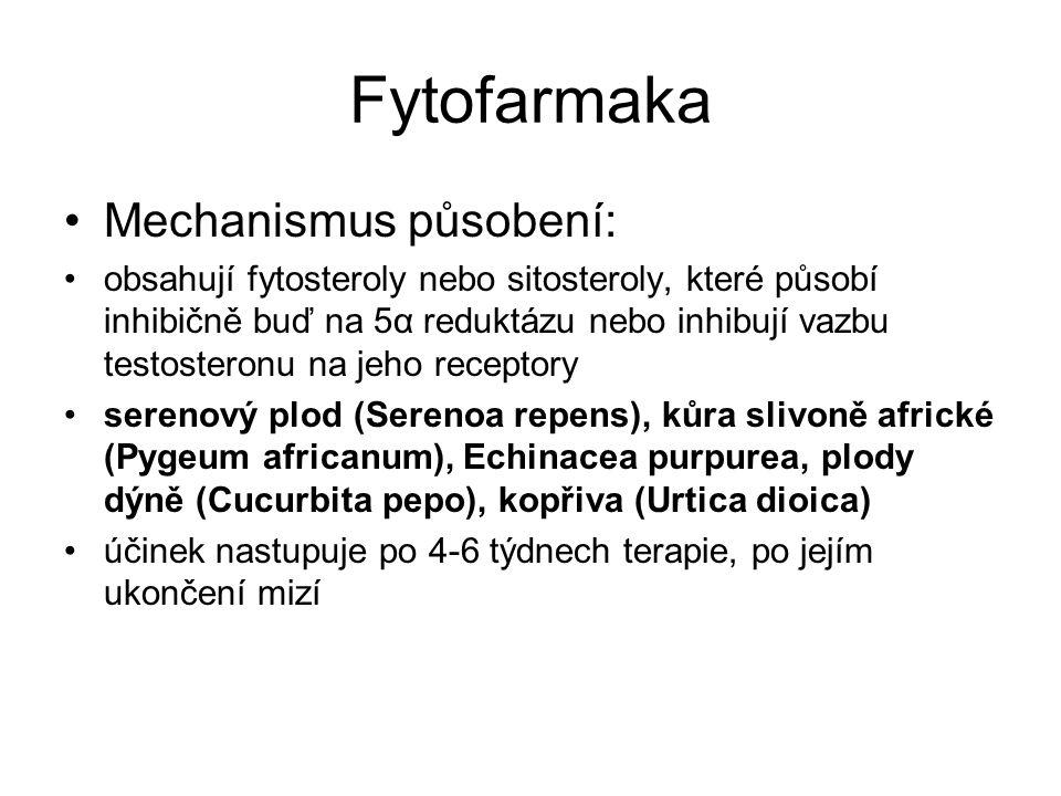 Fytofarmaka Mechanismus působení: