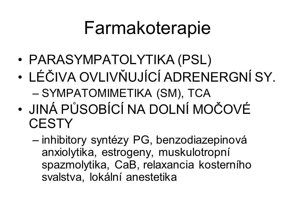 Farmakoterapie PARASYMPATOLYTIKA (PSL)