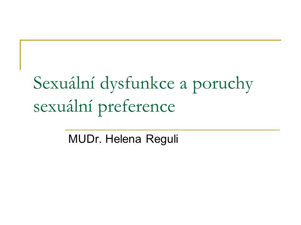 Sexuální dysfunkce a poruchy sexuální preference