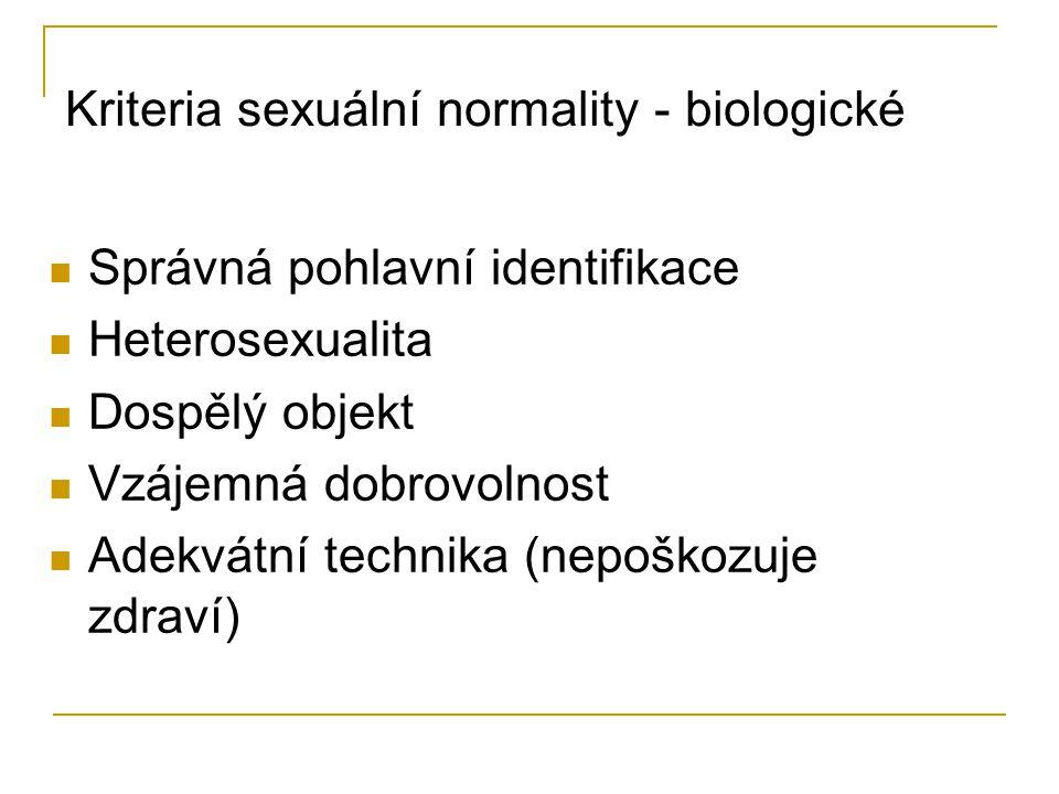 Kriteria sexuální normality - biologické