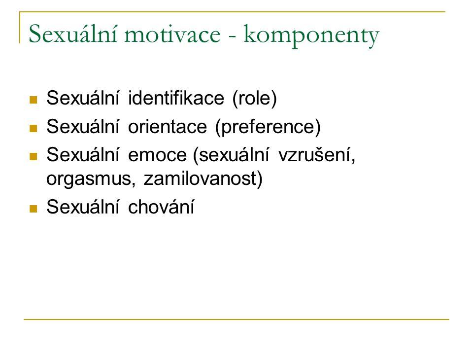 Sexuální motivace - komponenty