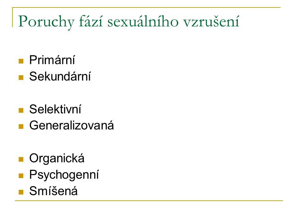 Poruchy fází sexuálního vzrušení