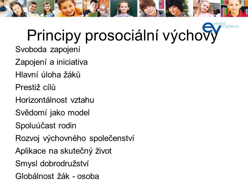 Principy prosociální výchovy