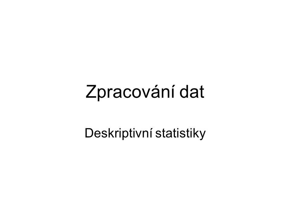 Deskriptivní statistiky