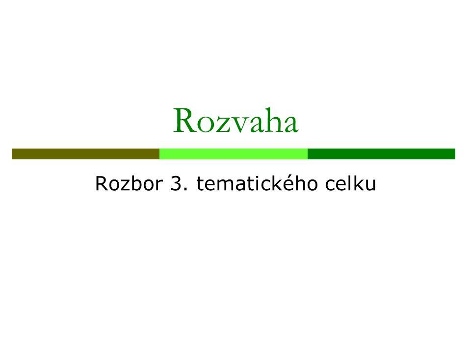 Rozbor 3. tematického celku