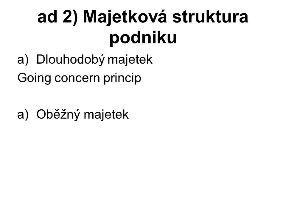 ad 2) Majetková struktura podniku