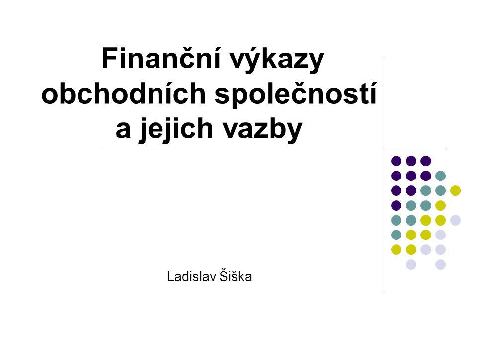 Finanční výkazy obchodních společností a jejich vazby