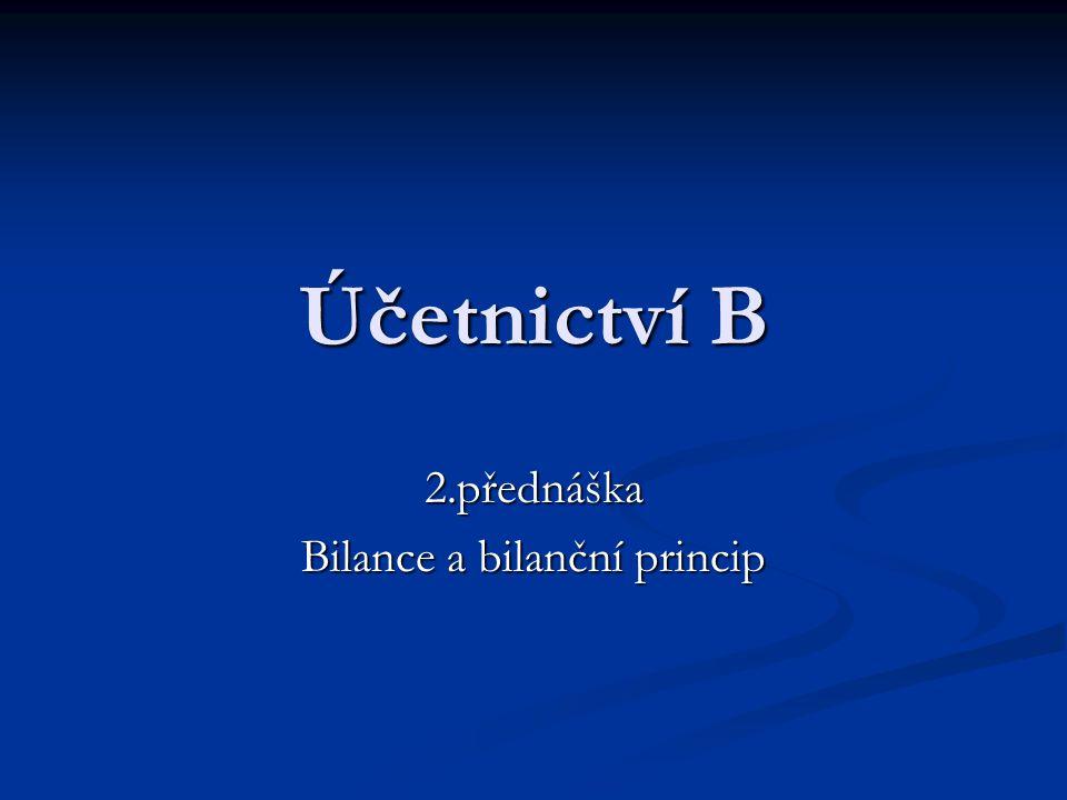 2.přednáška Bilance a bilanční princip