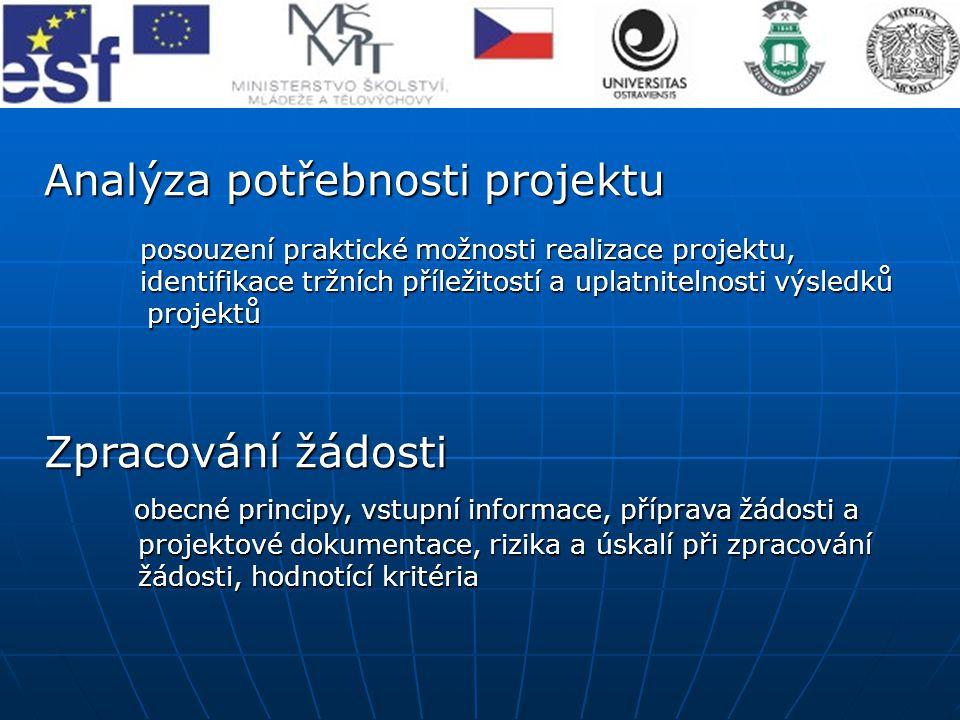 Analýza potřebnosti projektu