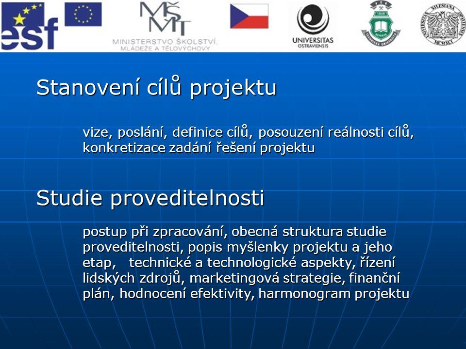 Stanovení cílů projektu