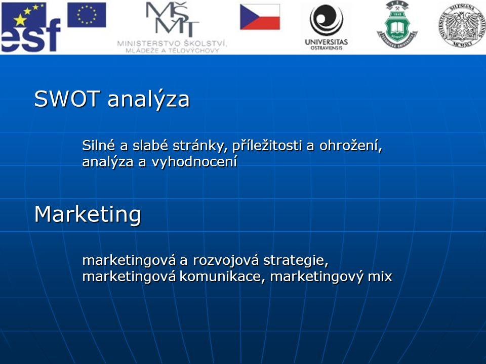 SWOT analýza Marketing analýza a vyhodnocení