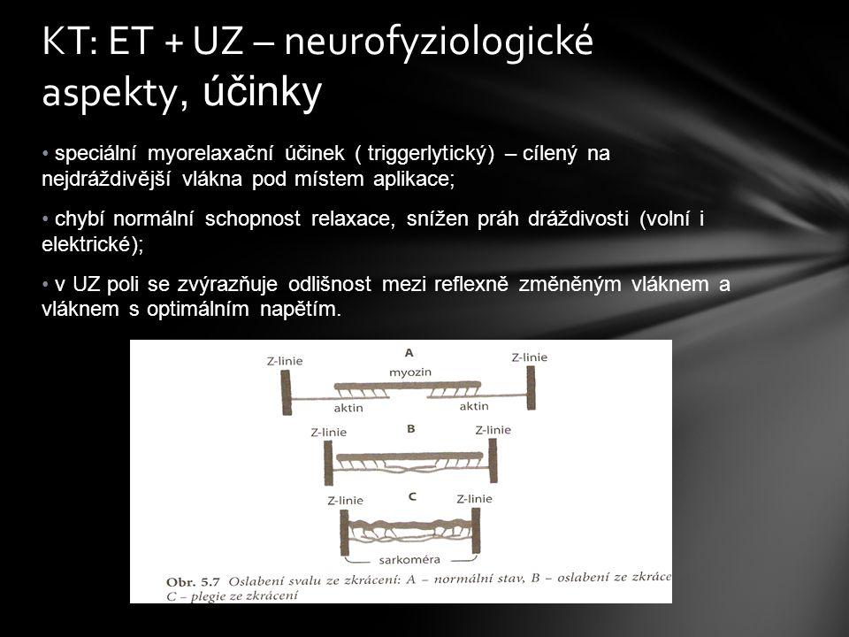 KT: ET + UZ – neurofyziologické aspekty, účinky