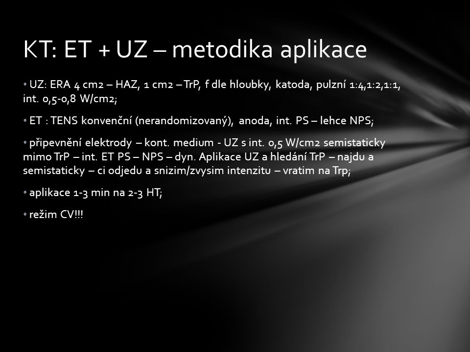 KT: ET + UZ – metodika aplikace