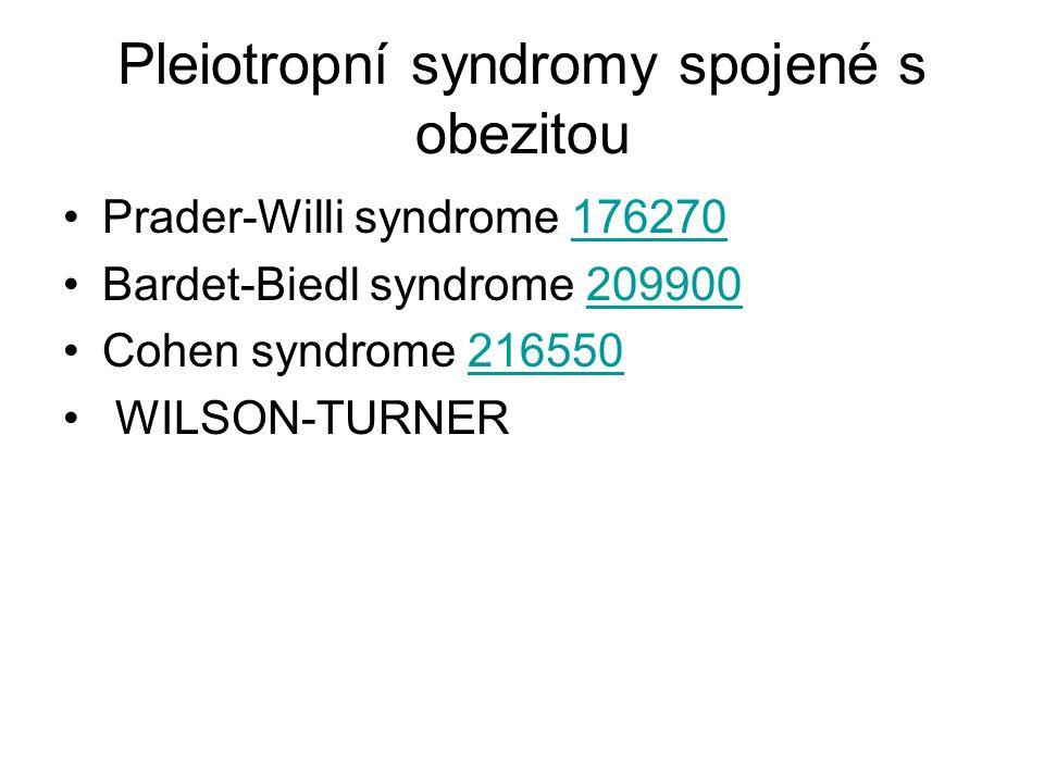 Pleiotropní syndromy spojené s obezitou