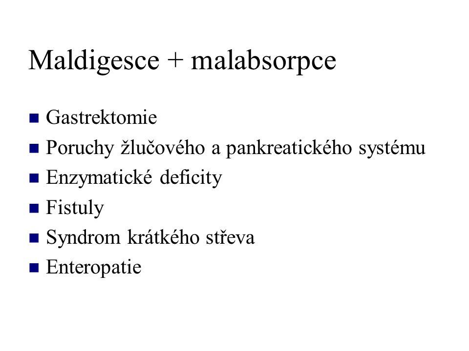 Maldigesce + malabsorpce