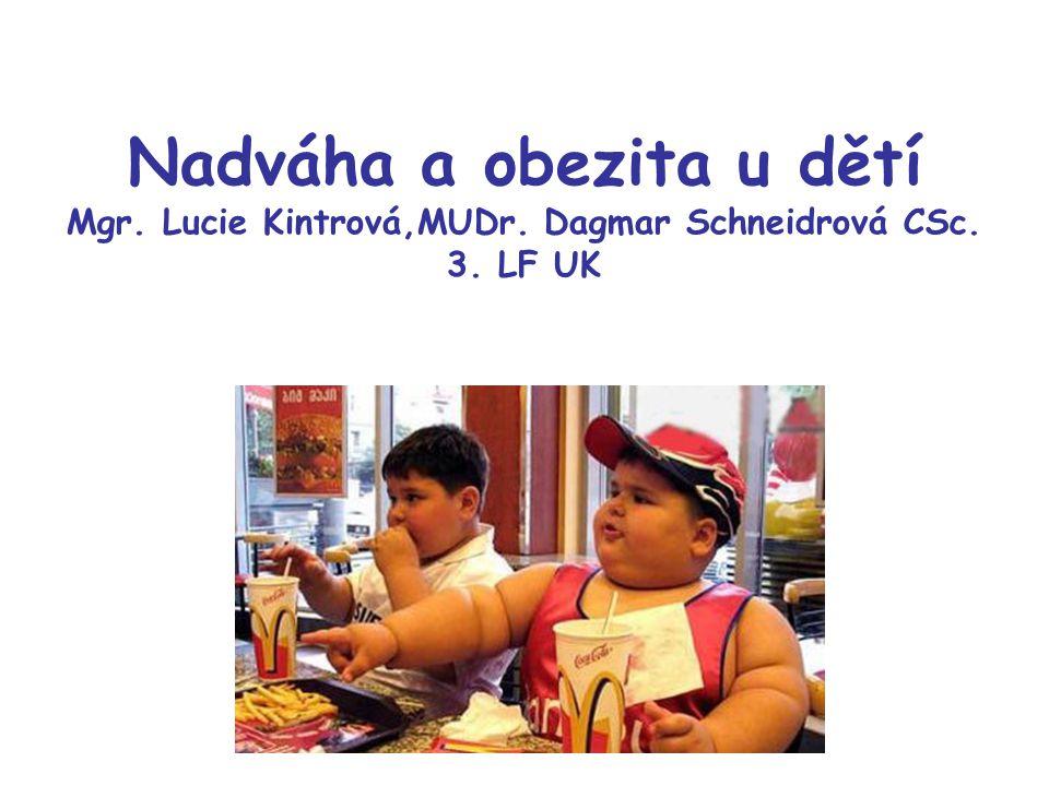 Nadváha a obezita u dětí Mgr. Lucie Kintrová,MUDr