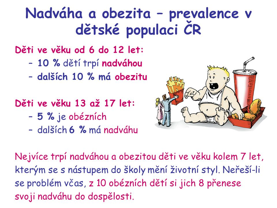 Nadváha a obezita – prevalence v dětské populaci ČR