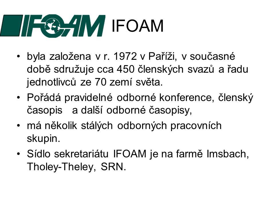 IFOAM byla založena v r. 1972 v Paříži, v současné době sdružuje cca 450 členských svazů a řadu jednotlivců ze 70 zemí světa.