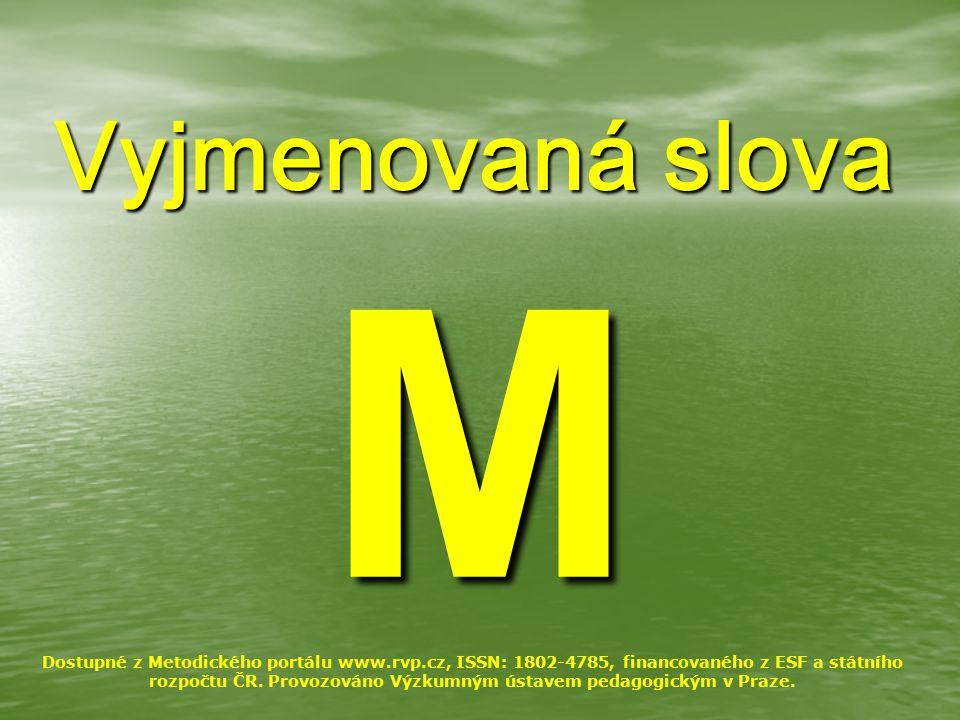 Vyjmenovaná slova M.
