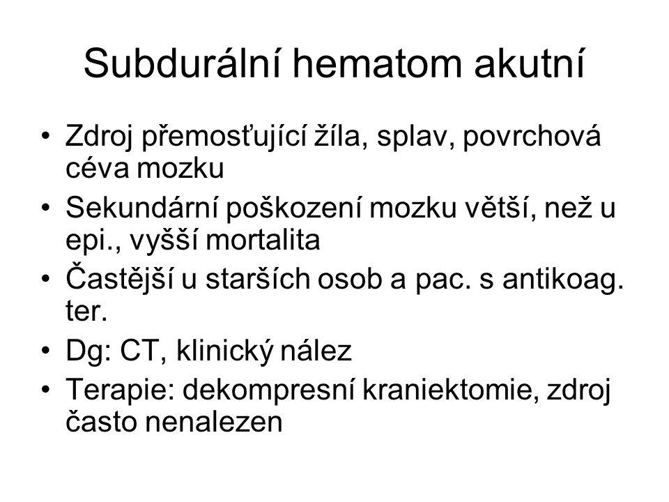 Subdurální hematom akutní