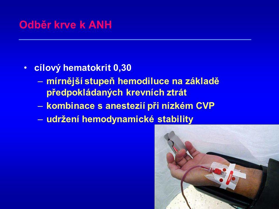 Odběr krve k ANH cílový hematokrit 0,30